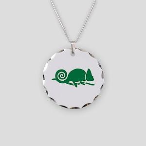 Chameleon Necklace Circle Charm