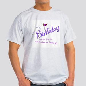 Birthday Wish Ash Grey T-Shirt