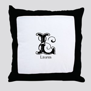 Lauren: Fancy Monogram Throw Pillow