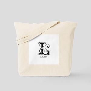 Lauren: Fancy Monogram Tote Bag