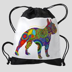 30c7e18ee253 Peace Love   Boston Terriers Drawstring Bag