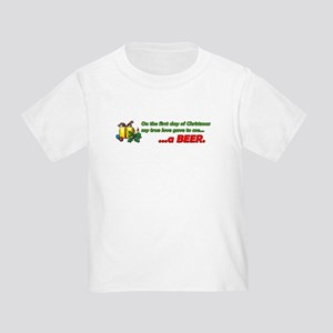 12 Days of Christmas Beer 2 Sided Toddler T