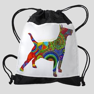 Peace Love & Bull Terriers Drawstring Bag