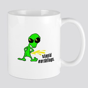 Stupid Earthlings Pissing Alien Mug