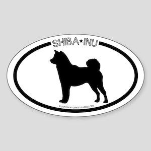 """Shiba Inu"" WhiteOval Sticker"