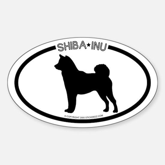 """Shiba Inu"" WhiteOval Decal"