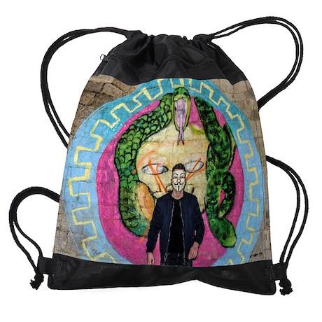 Anonymous Mural Logo Drawstring Bag