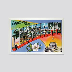 Mississippi Greetings Rectangle Magnet