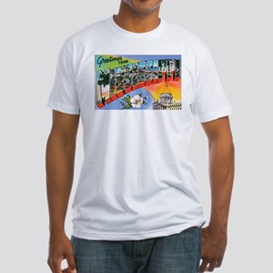 Mississippi Greetings (Front) Fitted T-Shirt