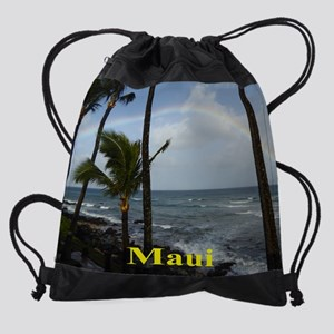 Rainbow Maui Drawstring Bag