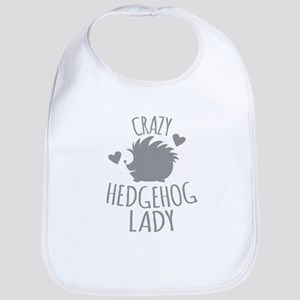 Crazy Hedgehog Lady Baby Bib