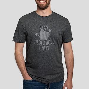 Crazy Hedgehog Lady Mens Tri-blend T-Shirt