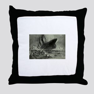 Titanic Sinking Throw Pillow