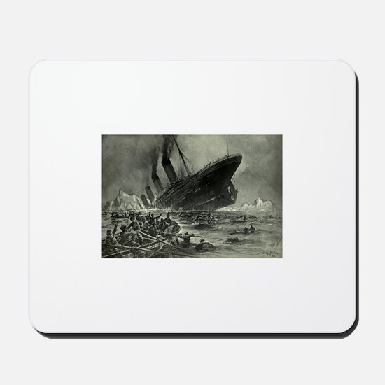 Titanic Sinking Mousepad