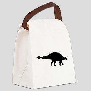 Dinosaur ankylosaurus Canvas Lunch Bag