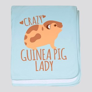 Crazy Guinea Pig Lady baby blanket