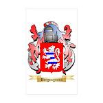 Bergougnoux Sticker (Rectangle 50 pk)