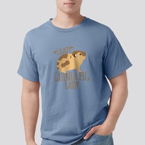 Crazy Guinea Pig Lady Mens Comfort Colors Shirt