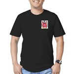 Bergougnou Men's Fitted T-Shirt (dark)