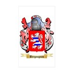 Bergougnou Sticker (Rectangle 10 pk)