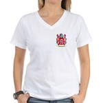Bergognon Women's V-Neck T-Shirt