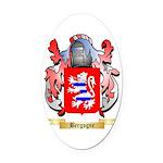 Bergogne Oval Car Magnet
