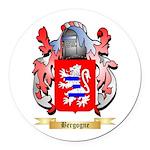Bergogne Round Car Magnet