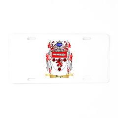 Bergin Aluminum License Plate