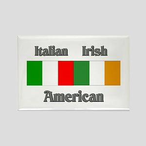 Italian Irish American Rectangle Magnet