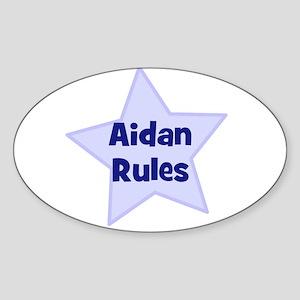 Aidan Rules Oval Sticker