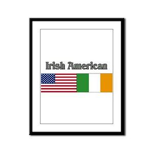 Irish American Framed Panel Print