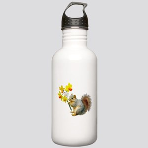 Squirrel Daffodils Stainless Water Bottle 1.0L