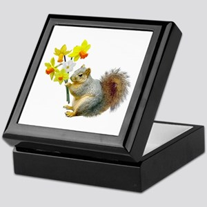 Squirrel Daffodils Keepsake Box