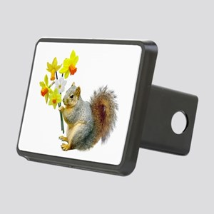 Squirrel Daffodils Rectangular Hitch Cover