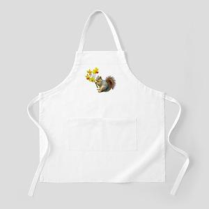 Squirrel Daffodils Apron