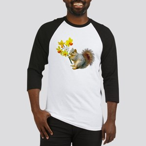 Squirrel Daffodils Baseball Jersey