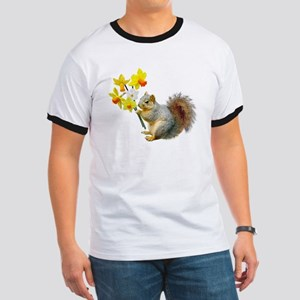 Squirrel Daffodils Ringer T