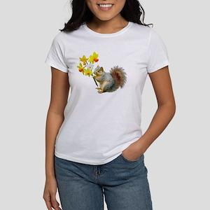 Squirrel Daffodils Women's T-Shirt