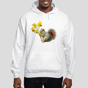 Squirrel Daffodils Hooded Sweatshirt