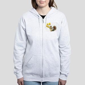 Squirrel Daffodils Women's Zip Hoodie