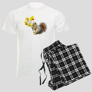 Squirrel Daffodils Men's Light Pajamas