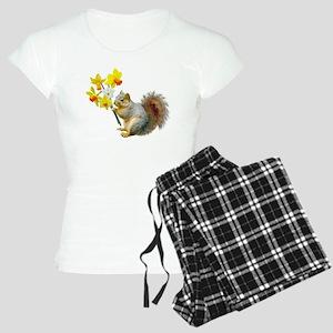 Squirrel Daffodils Women's Light Pajamas