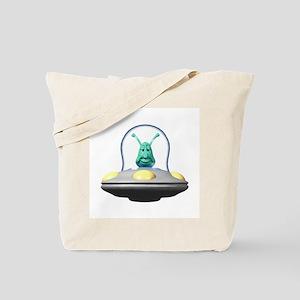 3d Alien In Ufo Tote Bag