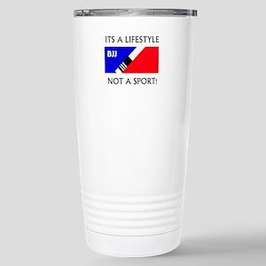 BJJ lifestyle black lettering Travel Mug