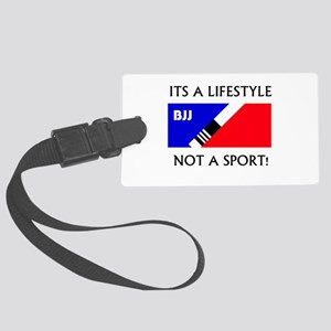 BJJ lifestyle black lettering Luggage Tag