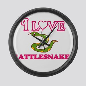 I Love Rattlesnakes Large Wall Clock