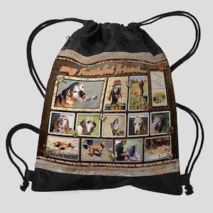 Senior Vizsla Scrapbook Drawstring Bag