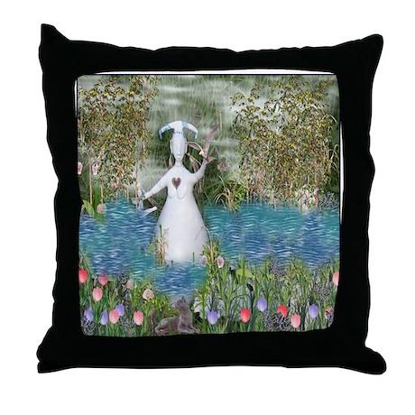 River Goddess Throw Pillow