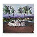 Blue Moon Palms Tile Coaster