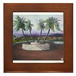 Blue Moon Palms Framed Tile